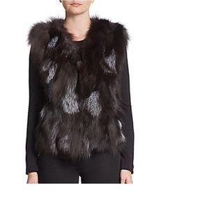 Adrienne Landau Jackets & Coats - Adrienne Landau V-neck Fox Fur Vest 🌹